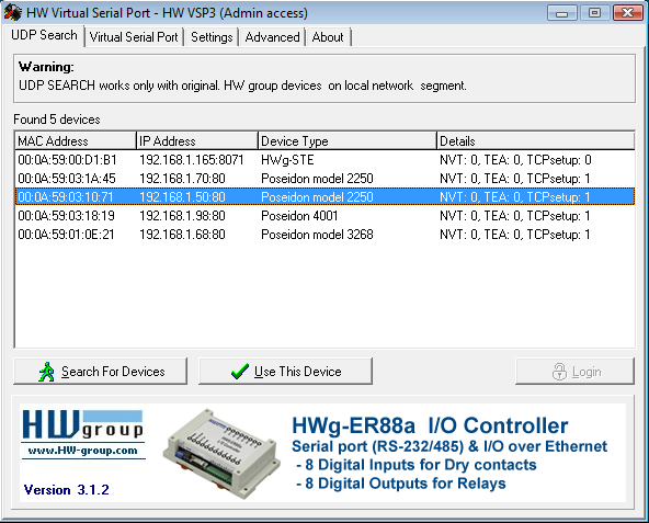 HW VSP3 - Virtual Serial Port | HW-group com