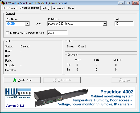 HW VSP3 - Virtual Serial Port | HW-group com