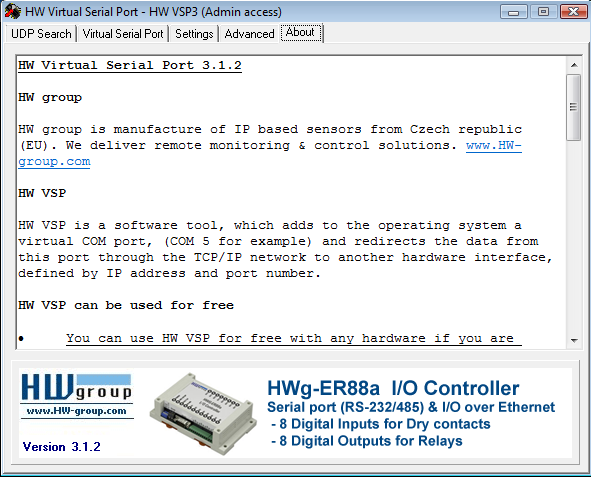HW VSP3 - Virtual Serial Port   HW-group com