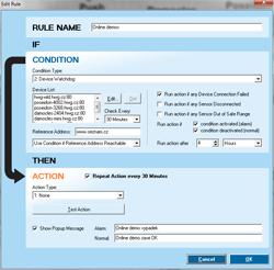 Рисунок 3. Программа HWg-Trigger позволяет HWg-SMS-GW3 plain реагировать на события.