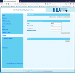 WWW interface with default button in PortBox2, PortStore5 and I/O Controller2