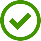 "The icon indicates an ""OK"" sensor – the sensor is sending a valid value that is within the safe range"